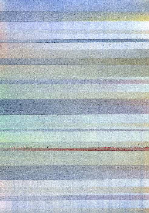 Pastel Stripes Print by Hakon Soreide