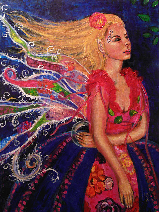Patch Work Fae Print by Kimberly Van Rossum