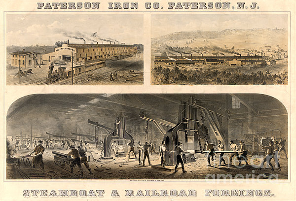 Paterson Iron Company Print by Granger