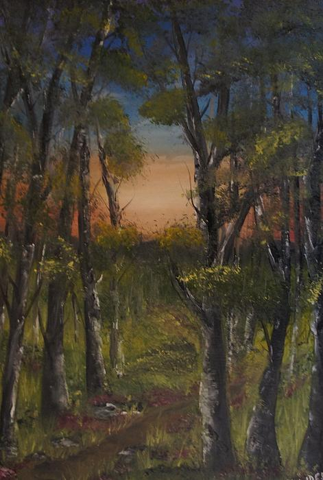 Mary DeLawder - Path into forest