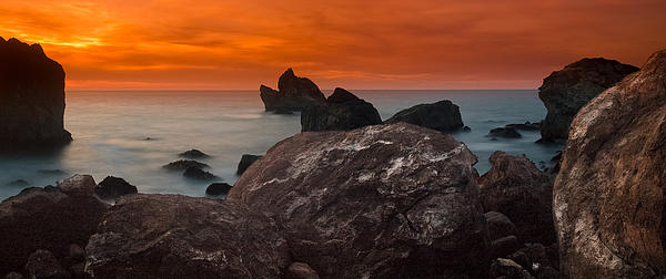 Patrick's Point Dusk Panorama Print by Greg Nyquist