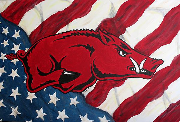 Patriot Hog Print by Nathan Grisham