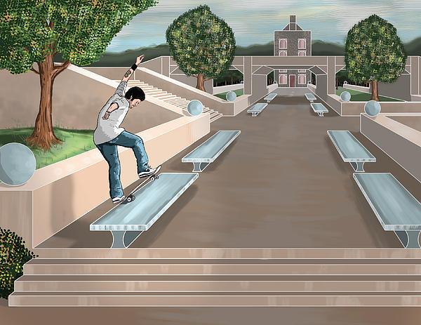 Paul Rodriguez - Fs Bluntslide Print by Kevin Kocses