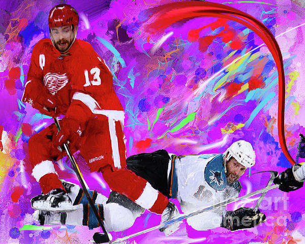 Pavel Datsyuk Print by Donald Pavlica