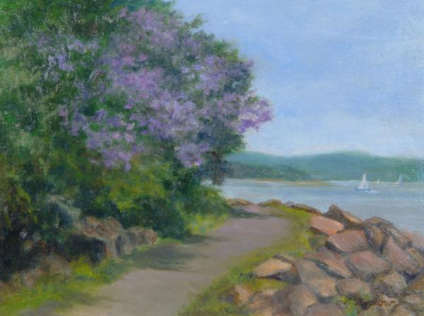 Pawlonia Along The Nyack Trail Print by Phyllis Tarlow
