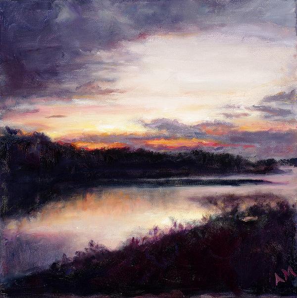 Peace At The Lake Print by Ann Moeller Steverson