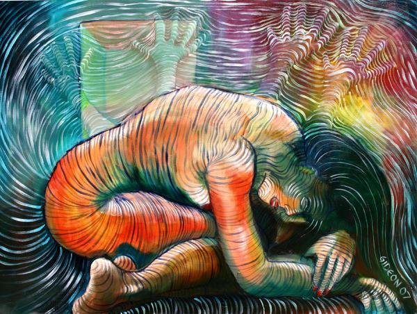 Peaceful Flow - Reclining Nude Print by Gideon Cohn