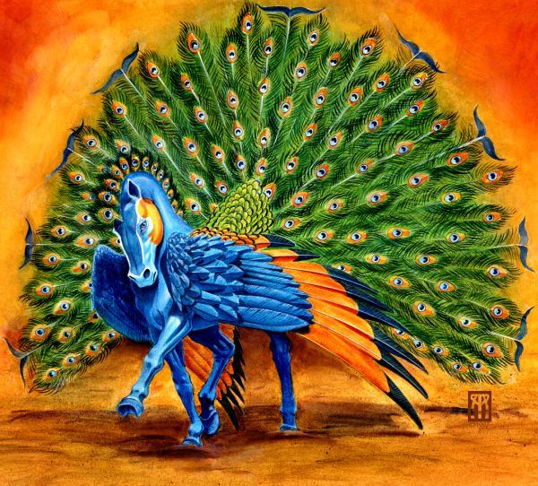 Melissa A Benson - Peacock Pegasus
