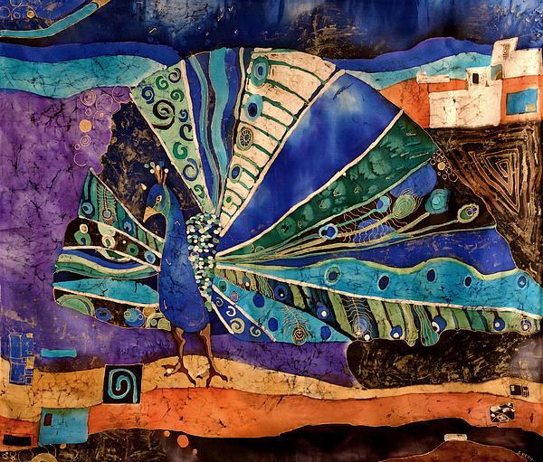 Peacock Print by Sandra Kern