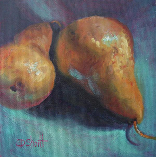 Pear Pair Painting  - Pear Pair Fine Art Print