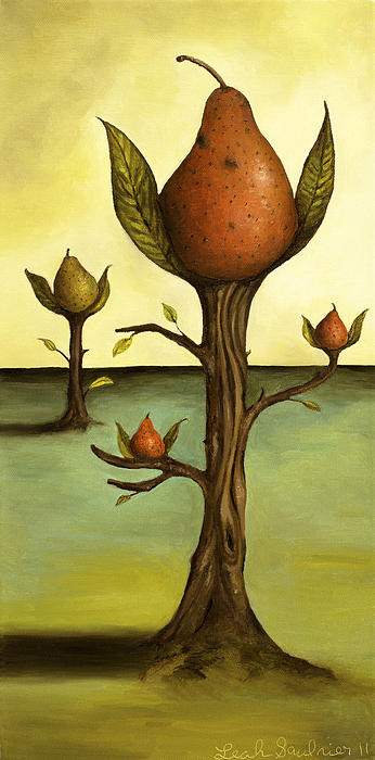 Pear Trees Print by Leah Saulnier The Painting Maniac