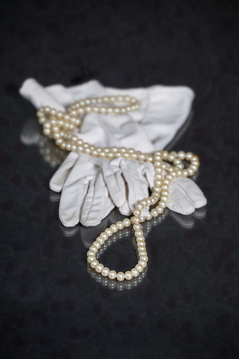 Pearls And Gloves Print by Joana Kruse