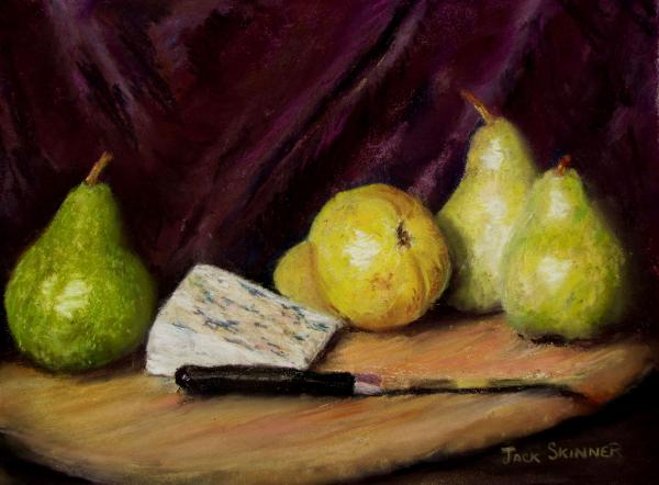 Pears And Cheese Print by Jack Skinner