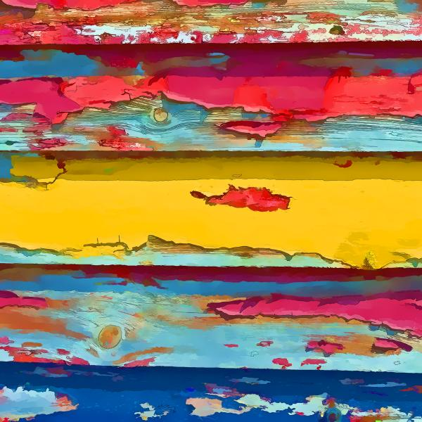 Peeling Paint  I Print by Gareth Davies