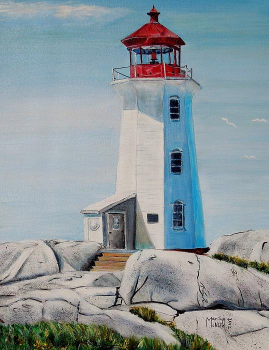 Peggy's Cove Lighthouse Print by Marilyn  McNish