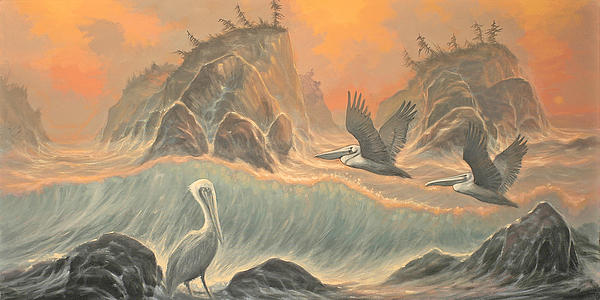 Pelican Paradise Painting