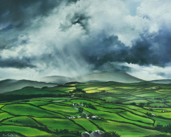 Pendle Hill. Lancashire.england. Print by Jan Farthing
