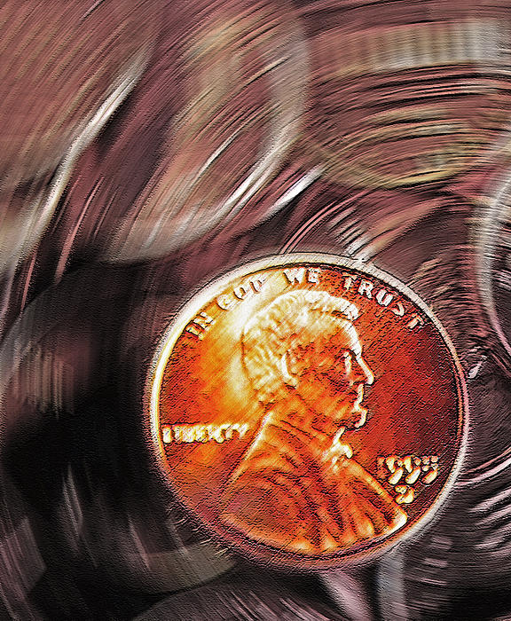 Pennies Abstract 2 Print by Steve Ohlsen