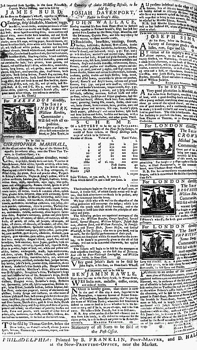 Pennsylvania Gazette, C1749 Print by Granger