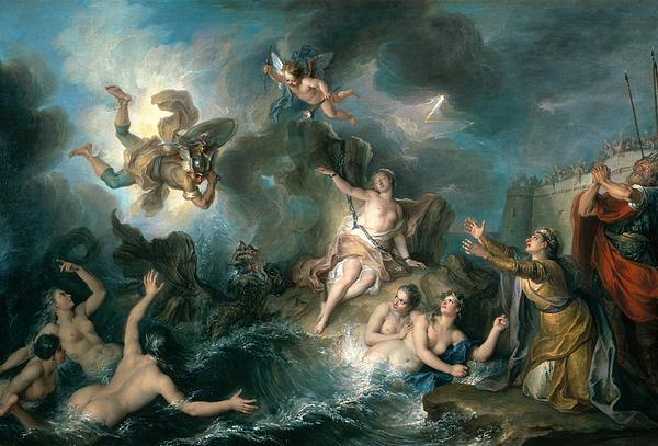 Perseus Rescuing Andromeda Print by Charles Antoine Coypel