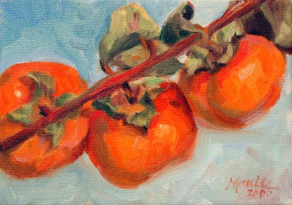 Persimmons Print by Athena  Mantle