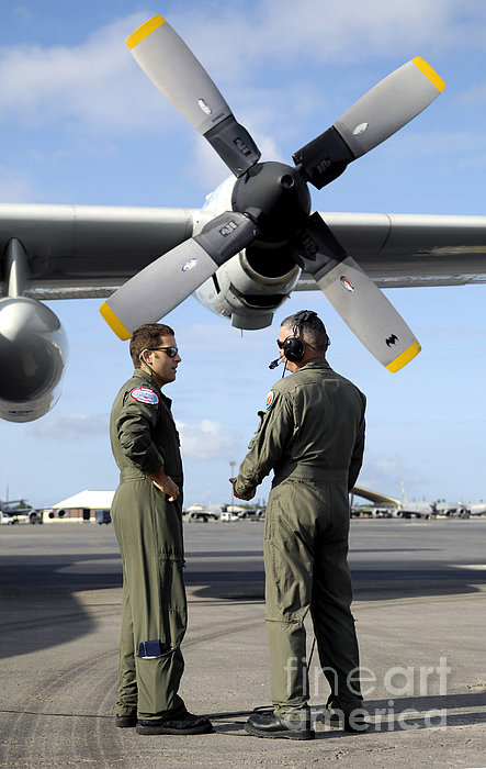 Personnel Conduct A Pre-flight Briefing Print by Stocktrek Images