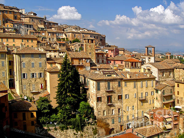 Perugia Italy - 01 Print by Gregory Dyer