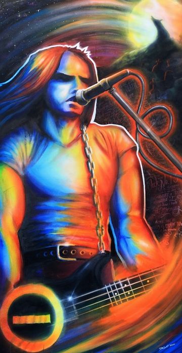Peter Steele Print by Cobb Family Art
