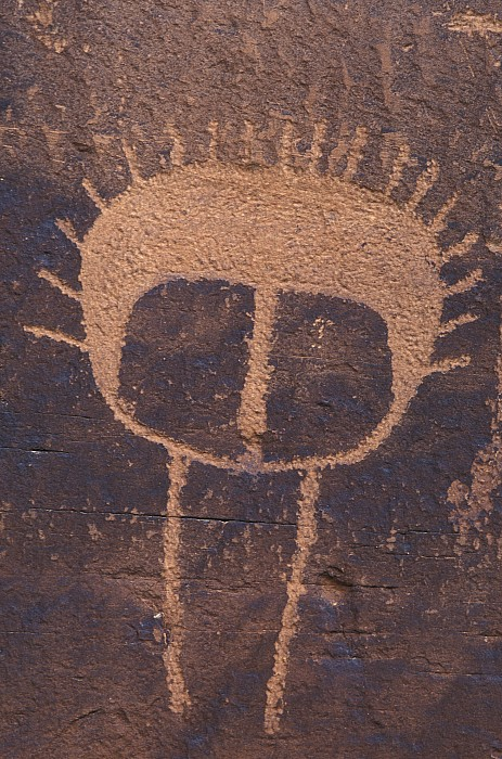 Petroglyph Closeup Print by Rich Reid