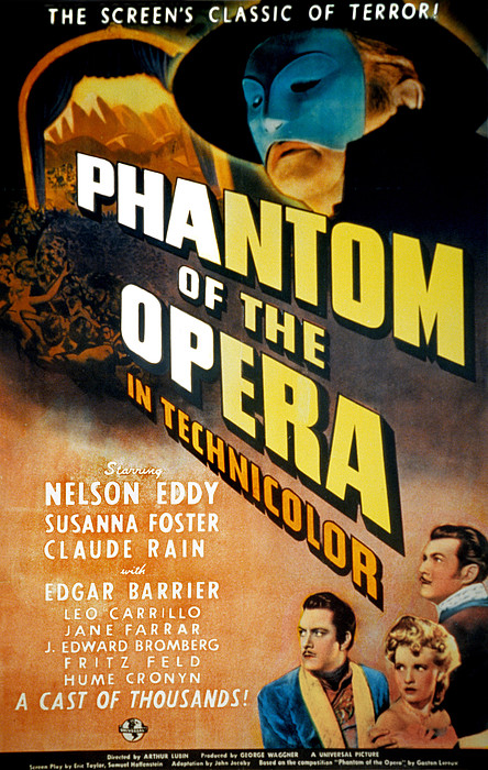 Phantom Of The Opera, Claude Rains Print by Everett