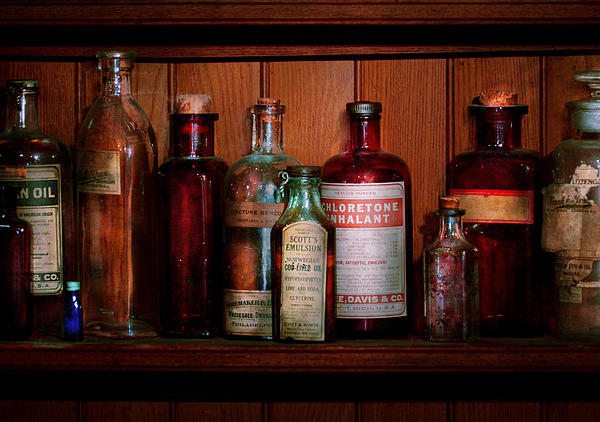 Pharmacy -  Oils And Inhalants Print by Mike Savad