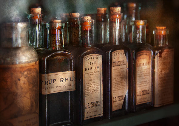 Pharmacy - Syrup Selection  Print by Mike Savad