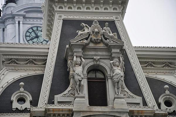 Philadelphia City Hall Window Print by Bill Cannon