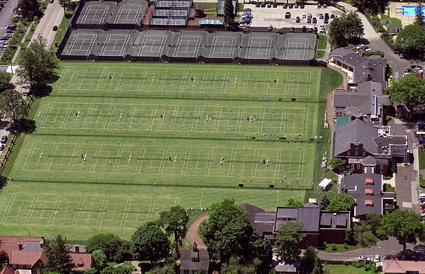 Philadelphia Cricket Club Us Jr International Grass Court Championships Print by Duncan Pearson