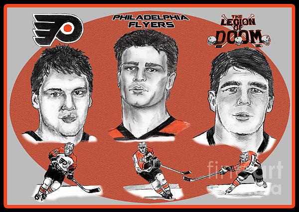 Philadelphia Flyers Legion Of Doom Print by Chris  DelVecchio