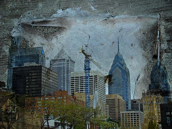 Philadelphia Skyline Print by Mother Nature