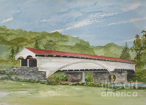 Philippi Covered Bridge  Print by Nancy Patterson