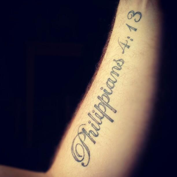 Philippians 4 13 foot tattoo the image for Decor to adore