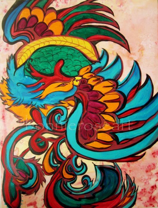 Phoenix 2 Print by Bonnie Rose Parent