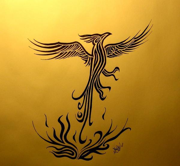 Phoenix Drawing Phoenix Fine