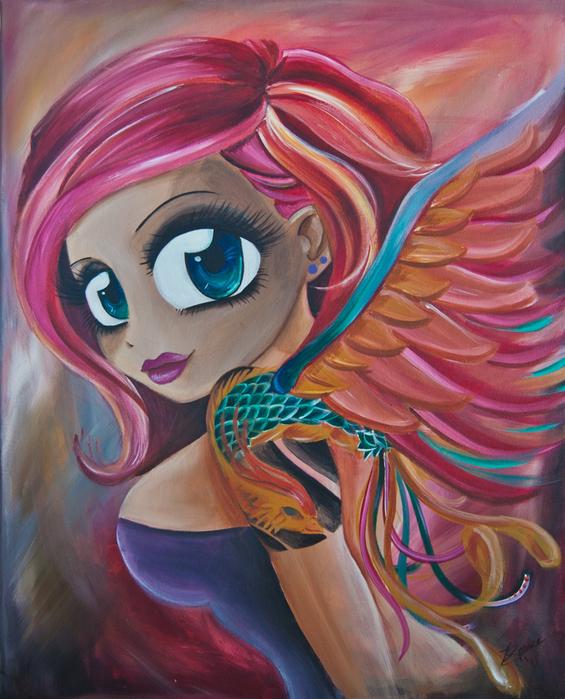 Phoenix Reborn Print by Zara  Spence
