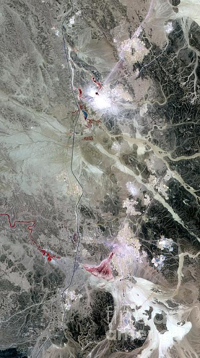 Phosphate Mines, Jordan Print by Nasa