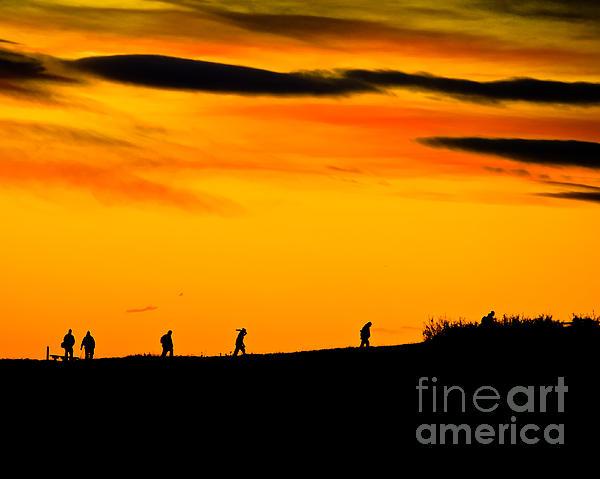 Photo Club Sunrise Print by Harry Strharsky