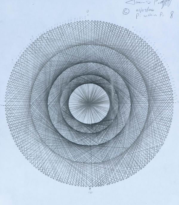 Pi Within Pi Drawing  - Pi Within Pi Fine Art Print