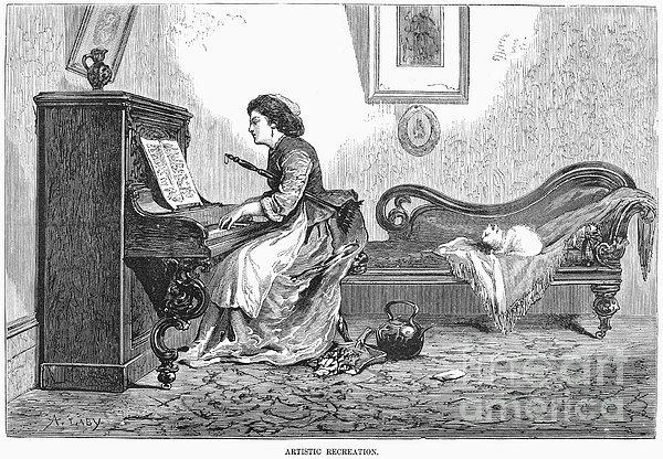 Pianist, 1876 Print by Granger