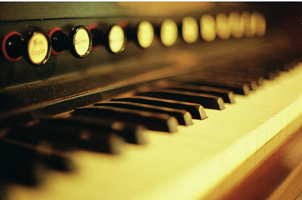 Piano Keys And Buttons Print by photographer, loves art, lives in Kyoto