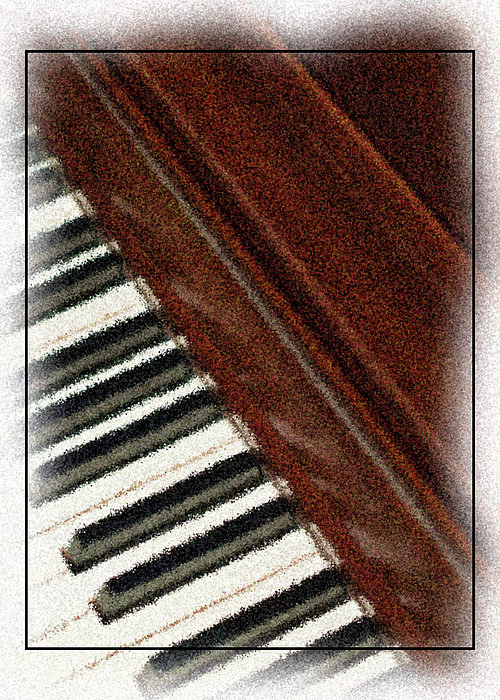 Piano Keys Print by Carolyn Marshall