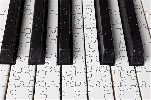 Piano Keys Jigsaw Print by Garry Gay
