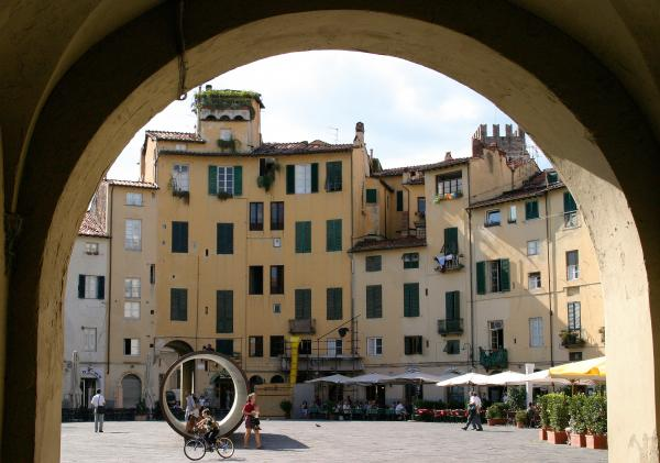 Piazza Antifeatro Lucca Print by Mathew Lodge