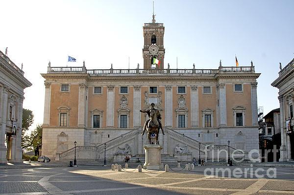 Piazza Del Campidoglio. Capitoline Hill. Rom Print by Bernard Jaubert